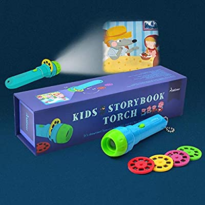 Kids Picture Projector Flashlight Bedtime Animal Storybook Torch for Baby Toddlers, 4 Themes : Baby