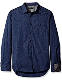 Kenneth Cole New York Men's Long Sleeve Printed Shirt