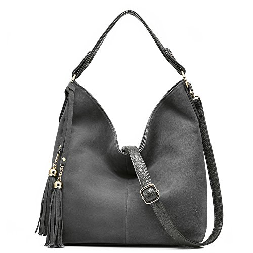 Gray Hobo Handbag - 4