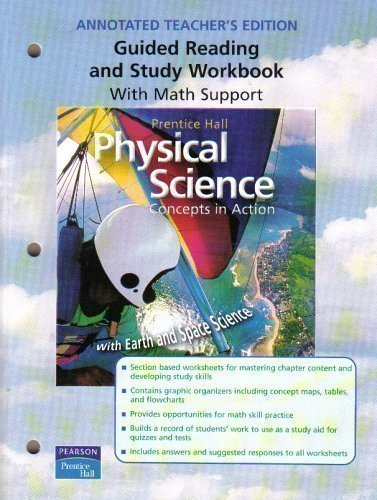 Physical Science: Concepts in Action (Annotated Teacher's Edition ...