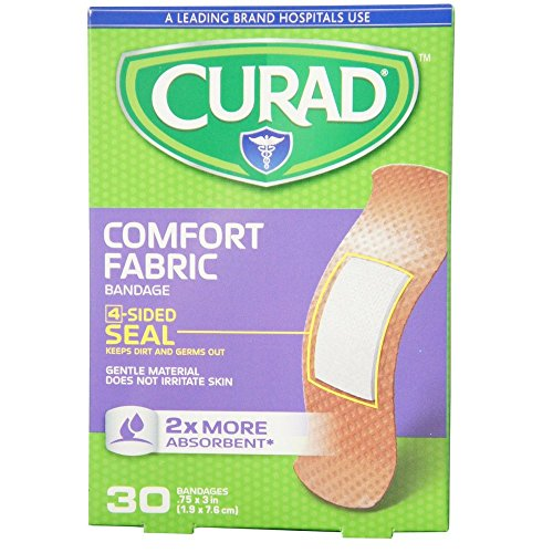 Curad Comfort Fabric Bandages .75 x 3 Inches 30 (Curad Flexible Fabric)