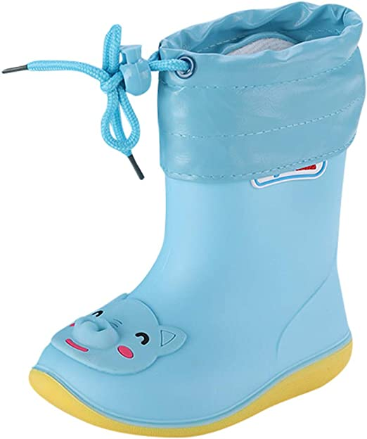 Waterproof Rubber Non slip Boots ToddlerBaby Rain Boots Kids Children Rain Shoes