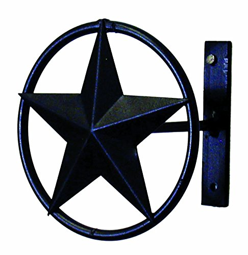 IRON STAR CURTAIN TIE BACK-4 INCHES DEEP