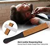 Anself Men's Leather Sharpening Strop Shaving Strap