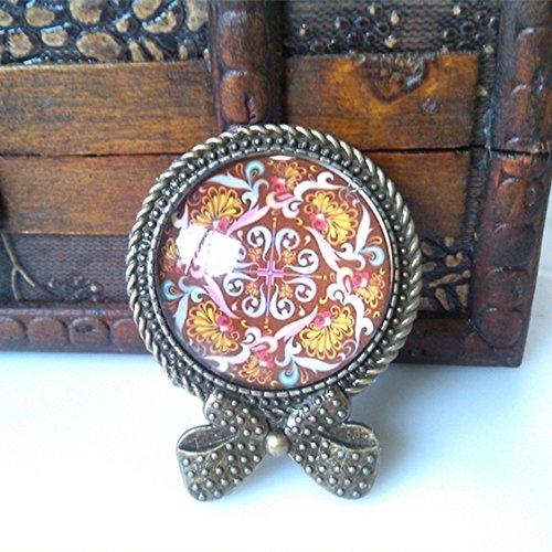 ade gemstone brooch palace hollow fur coat collar shirt collar pin badge flower neckwear ()