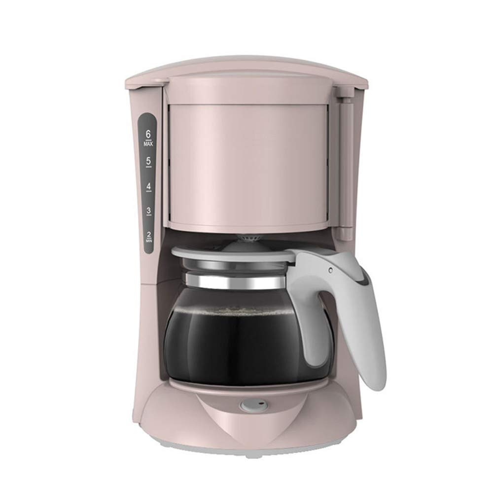 Automatic Drip Coffee Maker, Espresso Machine, Coffee Machine, Coffee Percolators Electric, 3 Coffee Servers(Classic Brew, Rich Brew, Pre-Infusion), 600W, 600ML Glass Carafe,Pink [Energy Class A] GWJNB