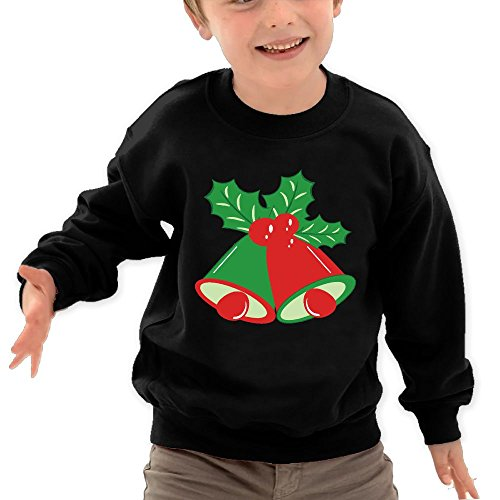 Channey Christmas-Bells-Stock-Vector-Clipart Todller Kids Unisex Sweatshirt 2-6 Years Old (Holly Christmas Clipart)