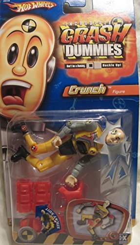 Incredible Crash Dummies Action Figure Crunch with Sticky Suit -