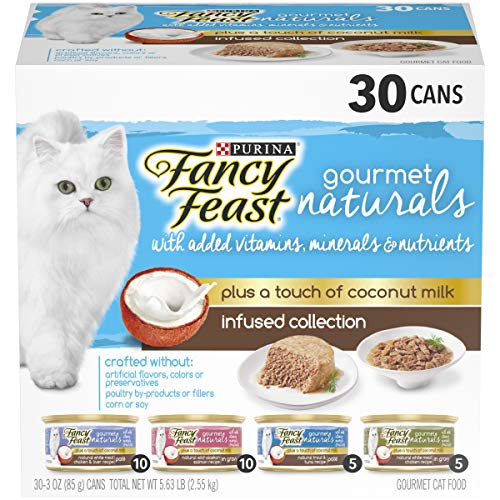 Purina Fancy Feast Natural Wet Cat Food Variety Pack; Gourmet Naturals With Coconut Milk Infused Collection - (30) 3 oz. - Fancy Natural