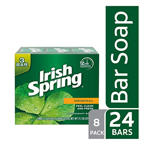Irish Spring Original Deodorant Bar Soap, 3.7 Ounce, 3 Count (8 pack) (The Best Soap For Men)