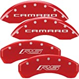 MGP Caliper Covers Chevrolet Camaro 2010 2011 2012 (Licensed Logo, Camaro and RS) - Red