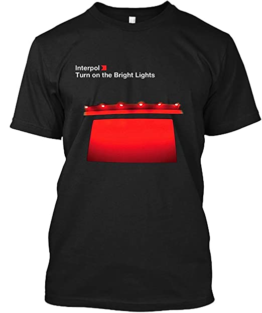 Amazon.com: Interpol-Turn On The Bright Lights - Camiseta ...