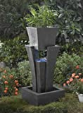 Raining Water Outdoor/indoor Fountain with Planter with Led Light
