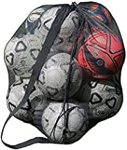 Greenery-GRE Extra Large Mesh Equipment Bag Adjustable Strap Drawstring Heavy Duty Hold 15 Soccer Balls Netbal