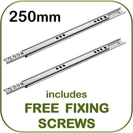 416MM SUITABLE MFI-IKEA OR ARGOS 1 pair 17MM REPLACEMENT DRAWER RUNNERS-246MM