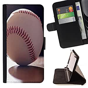 Devil Case- Estilo PU billetera de cuero del soporte del tir¨®n [solapa de cierre] Cubierta FOR Sony Xperia Z3 D6653- MLB Baseball Sport USA