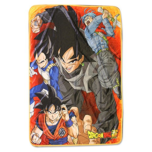 926 Super Saiyan Warriors Vs Goku Black Throw Blanket, One Size, Multicolor ()