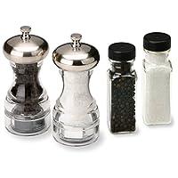 Olde Thompson Aspen Peppermill and Salt Grinder con Bonus Pepper and Salt