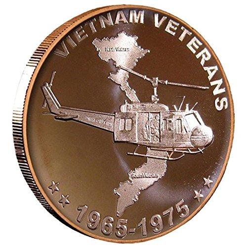 Jig Pro Shop Vietnam Veterans 1 oz .999 Pure Copper Round/Challenge Coin