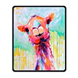 Mouse Pad Galaxy Rectangle Non-Slip Rubber Mousepad Llama Funny Watercolor Painting Print Gaming Mouse Pad