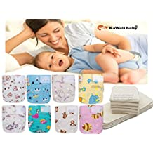 NEWBORN BEST SELLER! 20 Newborn Mom Label Pure & Natural (0-15 Months) Cloth Diapers+20 BAMBOO Inserts