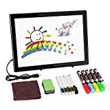 Double-Sided LCD Writing Board, AGPtek Digital Writing Pad Magnetic Dry Erase Board (12.8 x 9.5inch) with Marker Pens & Stand, Ideal for Kids & Adults, Home, School, Office Use