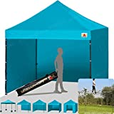 ABCCANOPY 18+colors 8ft by 8ft Ez Pop up Canopy Tent Commercial Instant Gazebos with 4 Removable Sides and Roller Bag and 4x Weight Bag (turquoise) Review