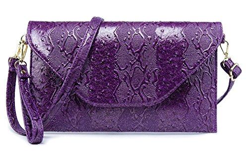 LIKESHE Women Violet Water Ripple Fashion and Portable Cross Body Handbags (Violet Fashion)