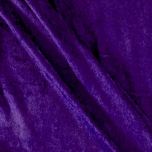 Stretch Panne Velvet Velour Purple Fabric By The Yard (Velour Stretch Fabric)