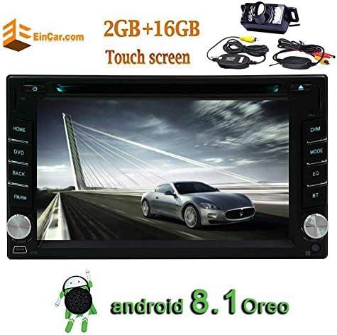 * 600 1024ユニバーサルダブル2DIN車用解像度のAndroid 8.1カーDVD CDプレーヤー付き6.2インチの容量性タッチスクリーンダッシュでGPSナビゲーションのWiFi Bluetoothのスクリーンミラー1080PビデオUSBのTFのAM / FM/RDS +ワイヤレスバックアップカメラ