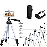 41-Inch 41'' Portable Travel Lightweight Aluminum Tripod with Smartphone Mount and Bag for iPhone Cellphone Camera