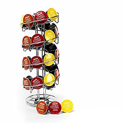 Kabalo Coffee Pod Capsule Revolving Rotating Spiral Stand Holder for