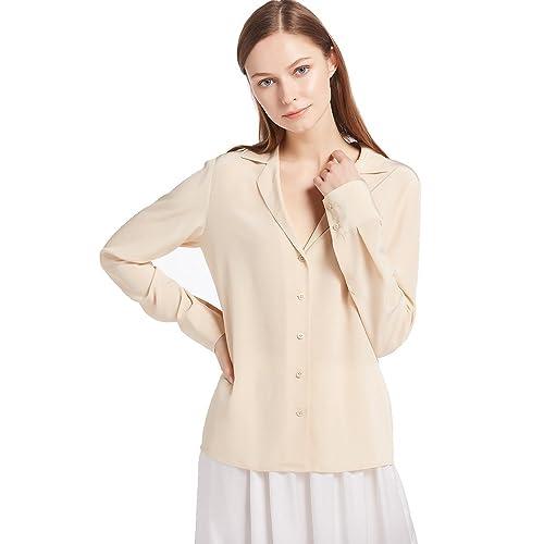 Lilysilk Camisa de 18MM con Escote EN V