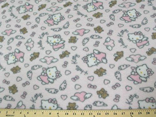 Hello Kitty Angel Pink Fleece Fabric A5