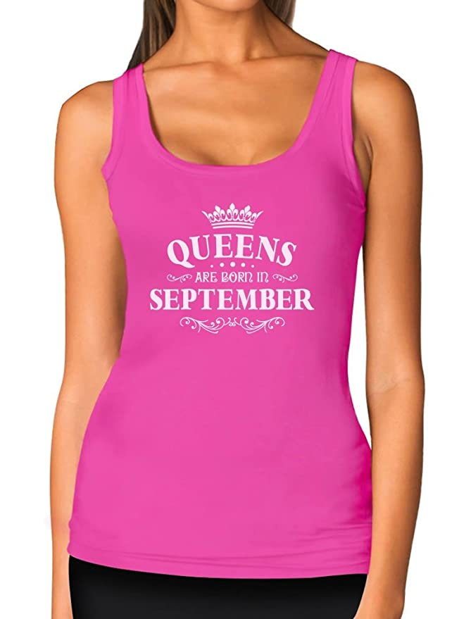 TeeStars - Birthday Gift for Women - Queens are Born in September Women  Tank Top f3aca280f
