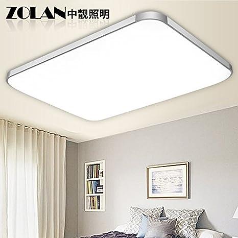 LJJ Lámparas de techo Lámparas LED luz rectángulo salón ...
