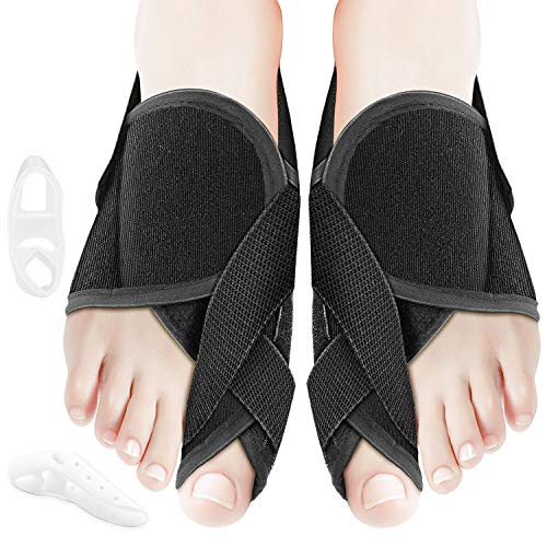 Orthopedic Bunion Relief Corrector Kit, Adjustable Toe Straightener for Hallux Valgus Pain, Breathable Elastic Big Toe Separator, Bunion Splints for Women & Men