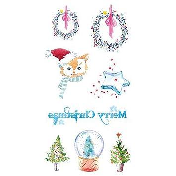 Haodou 5 Piezas Fiesta de Navidad de La Moda Tatuaje Patrón ...