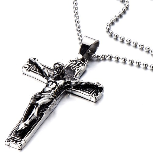 Stainless Gothic Crucifix Necklace Pendant