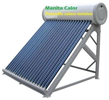 Panel solar térmico para agua cliente, depósito inoxidable de 100 litros, accesorios incluidos