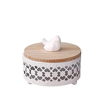 Superieur TOPBATHY Boîte De Rangement Ronde Avec Couvercle Boîte à Bonbons De Style  Européen Boîte à Bonbons