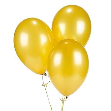 amazon com fun express 11 gold metallic balloons 2 dozen toys