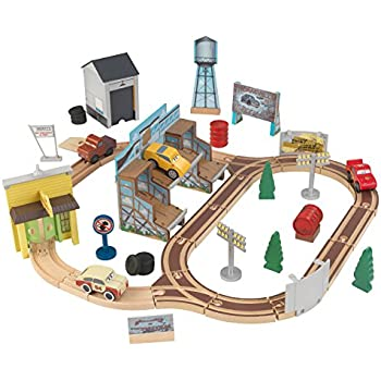 KIDKRAFT Disney Pixar Cars 3 Thomasville 50 Piece WoodenTrack Set with Accessories