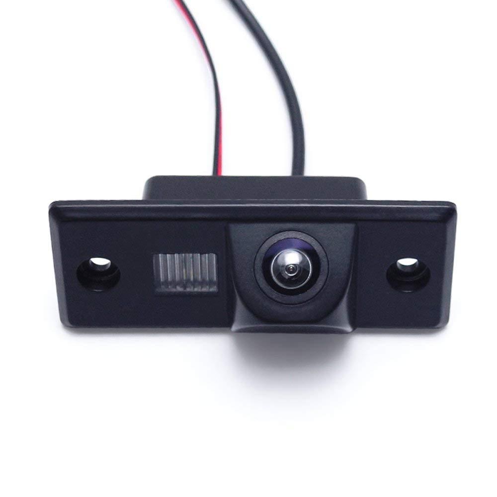 Kalakus Camera Recul Voiture, bedee Imperméable à l\'eau HD Night Vision Caméra de Recul et 170 Degrés Grand Angle Antichoc Vision Nocturne pour VW golf5 B5 Navi