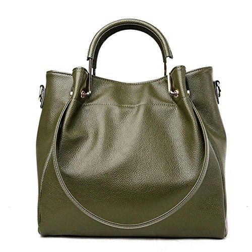 pelle Casual invecchiato a Trend in Borsa Wild morbida donna verde verde per Shtbo Handbags Tracolla colore Fashion 45zwZnqxF