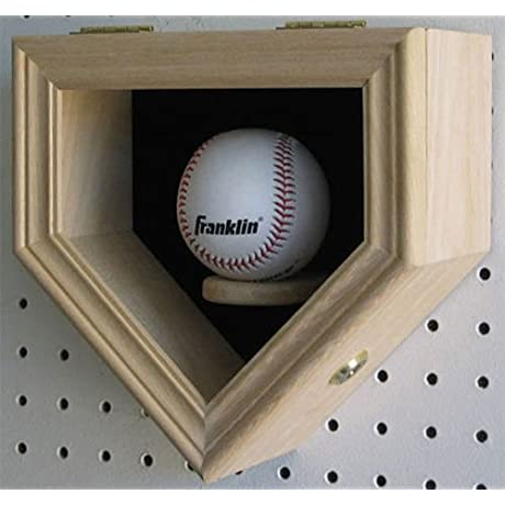 Unfinish For You To Stain Shadow Box Wall Cabinet To Hold 48 Baseball Display Uv Protection Door