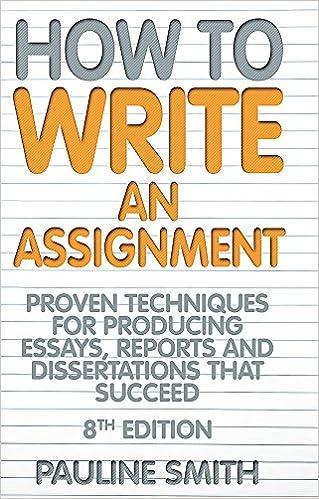 how do you write an assignment