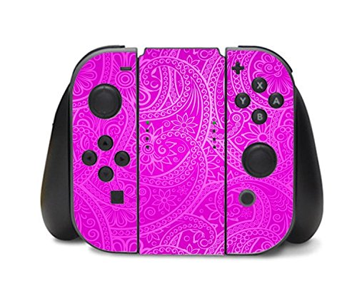 Tribal Hot Pink Pattern Design Nintendo Switch Controller Vinyl Decal Sticker Skin by Moonlight Printing