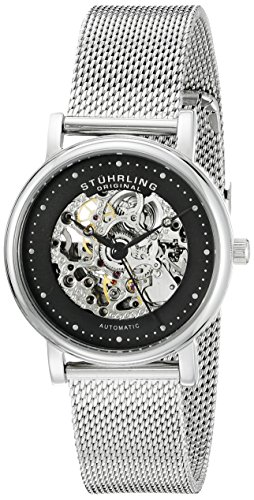 Stuhrling Original Women's 832L.02 Castorra Analog Display Automatic Self Wind Silver Watch