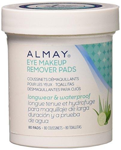 Almay Longwear & Waterproof Eye Makeup Remover Pads, 80 Count